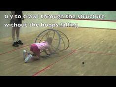 Bouwen met hoepels en kruip erdoor, bewegen met kleuters / Indoor Games for Kids: Hoop Fortress, Games for Kids under 7 & Games for Kids under 6