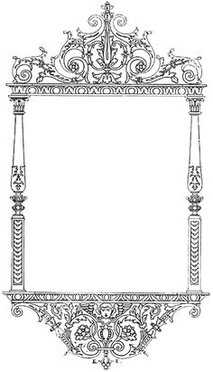 Free Vintage Digital Stamp frame