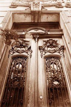antigua puerta de madera