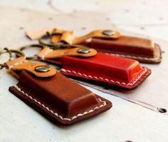 iPod Flash drive USB case Leather keyring / Personalized Alphabet / Christmas Gift under 20 usd. $18.50, via Etsy.
