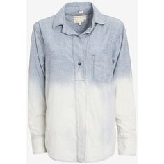 rag & bone/JEAN Leeds Ombre Denim Shirt ($89) ❤ liked on Polyvore featuring tops, shirts, camisas, rag & bone tops, long sleeve shirts, denim shirt, ombre top and rag & bone