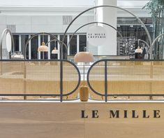 Le Mille Creperie located in Chadstone shopping centre designed by CoLAB Design Studio. For more information visit www.colabdesignstudio.com.au #cafedesign #kioskdesign #cakeshop #colabdesignstudio