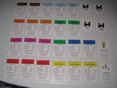 2011 Electronic Banking Monopoly Property Deeds Replacements Complete Set | eBay