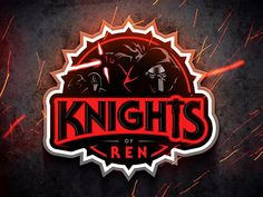 Knights of Ren by Myles Mendoza Knights Of Ren, Samurai Artwork, Learning Logo, First Order, Mendoza, Star Wars Art, Art Logo, Dark Side, Team Logo