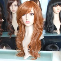 65cm long Bright Copper brown wave fashion wig SY14 ,shop at Costwe.com