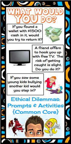 004 This is a fun, engaging lesson for teaching ETHICS that