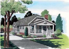 House Plan 24241 | Bungalow Country Craftsman Plan with 1174 Sq. Ft., 3 Bedrooms, 2 Bathrooms at family home plans