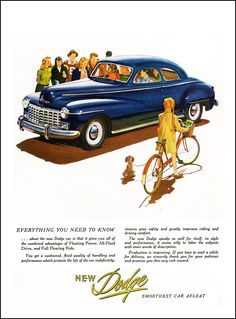 """1946 Dodge Ad """"Everything you need to know"""""""