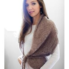 Beginner knit -- Boucle Cocoon from Be Sweet FREE knitting pattern