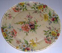 Prato decorado com flores
