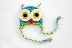 The owl hat might be a little overdone, but I like the colors in this one.