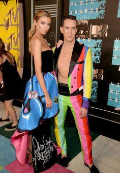 Stella Maxwell e Jeremy Scott no MTV VMA's 2015 (Foto: WireImage)