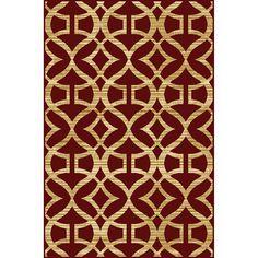 Home Dynamix Caracas Red Rectangular Indoor Woven Area Rug (Common: 5 x 7; Actual: 62-in W x 86-in L)