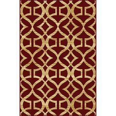 Shop Home Dynamix Caracas Red Rectangular Indoor Woven Area Rug (Common: 5 x 7; Actual: 62-in W x 86-in L) at Lowes.com