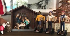 Hipster nativity set includes selfies and Segways - CNET Duckface, Ages Of Man, The Birth Of Christ, Hipster, Three Wise Men, Beanie, New York Post, Baby Jesus, Christmas And New Year