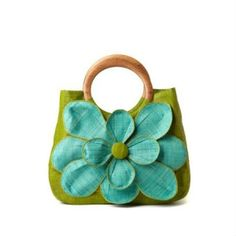 Love the apple green + turquoise by Mar Y Sol.
