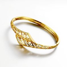 Show details for Bracelets Women Trendy Geometry Gold Plated Rose Gold Plated Copper Zircon 8inches
