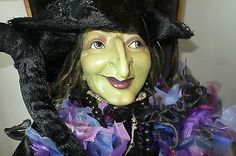 Katherine's Collection Elaborate Sorceress Witch Halloween Doll 6'  COLLECTIBLE