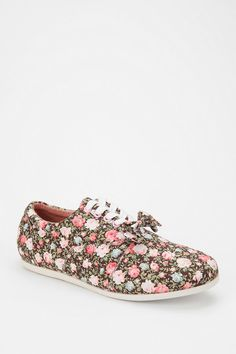 Study Footwear Floral Bow Canvas Sneaker  #UrbanOutfitters
