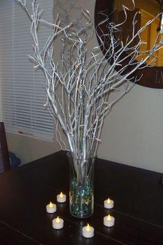 My 'under $10' DIY manzanita centerpieces :  wedding Centerpiece1 005