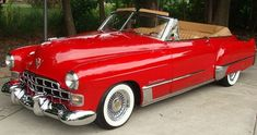 EARLY 1950'S RED CADILLAC CONVERTIBLE - Google Search | Cadillac's ...