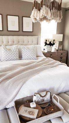 Taupe Bedroom, Neutral Bedroom Decor, Bedroom Decor For Couples, Bedding Master Bedroom, Small Room Bedroom, Room Ideas Bedroom, Home Decor Bedroom, Master Bedroom Decorating Ideas, Taupe Bedding