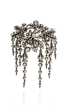 19th Century Diamond Corsage Brooch by Stephen Russell