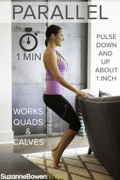 """This Classic Barre Thigh Workout targets mainly the quads, the major muscle group of the legs. There are advanced modifications to """"Make it Fire"""" taken from our BarreAmped Fire Classes! Ballet Barre Workout, Pilates Barre, Barre Workouts, Cardio Kickboxing, Pop Pilates, Pilates Reformer, Body Workouts, Pilates Workout, Pilates Video"""