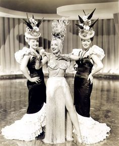 Carmen Miranda - Copacabana 1947    Fringe and Platforms!!!! There IS a god!