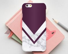 Burgundy Marble Print Phone Case iPhone 7 Case iPhone by CRCases