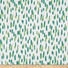 Madcap Cottage Mill Reef Palm from @fabricdotcom  Designed by Madcap Cottage for Robert Allen and screen printed on cotton duck; this versatile, medium weight fabric is perfect for window accents (draperies, valances, curtains and swags), accent pillows, bed skirts, duvet covers, upholstery and other home decor accents. Create handbags, tote bags, aprons and more. This fabric has 100,000 double rubs. Colors include shades of green and cream.