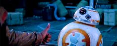 I always thought that BB8 was flipping Fin off, but everyone I ask says it's a thumbs up.... :(