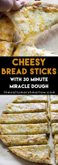 Homemade cheese breads sticks that are super soft and cheesy and only take 30 minutes to make!
