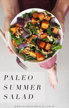 We love a good salad come summer time (OR anytime really!). This simple paleo salad is, of course, gluten and dairy free, and perfect for lunch on-the-go too!