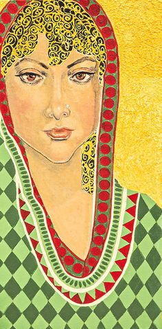 THE VEIL 2(Acrylic On Canvas)by Kajori Ghoshal.