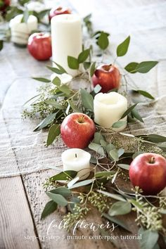 Easy 5 minute Thanksgiving or Christmas table setting that anyone can create without effort! Easy 5 minute Thanksgiving or Christmas table setting that anyone can create without effort! Deco Floral, Easy Entertaining, Deco Table, Decoration Table, Fall Banquet Table Decorations, Autumn Party Decorations, Harvest Decorations, Holiday Tables, Thanksgiving Decorations