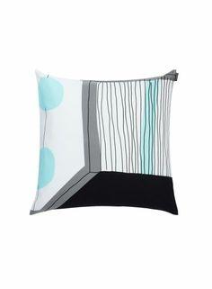 Taapeli-tyynynpäällinen (valkoinen, harmaa, v.turkoosi) |Sisustustuotteet, Olohuone, Sisustustyynyt | Marimekko