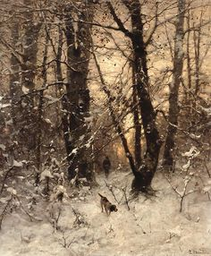 """Winter Twilight"" by Ludwig Munthe, 1891"