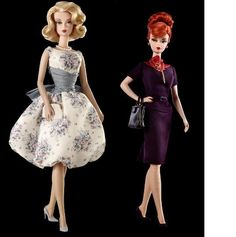 mad men barbies... maybe it is more for me, than for her... but beats those sparkly pink ones.