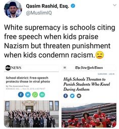 If you're a Nazi, free speech. If you protest against racism, not free speech. Intersectional Feminism, Patriarchy, Faith In Humanity, Social Issues, Social Justice, That Way, Equality, Just In Case, Feminism