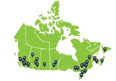 As you can see on the map there are a lot of organic farmers. which shows that the organic trend is starting to increase Eating Organic, Organic Recipes, Farmers, Canada, Map, Products, Location Map, Maps, Gadget