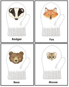 Free early learning printables for the book The Mitten by Jan Brett ...