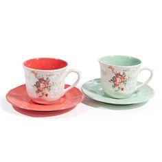 Juego de 6tazas y platillos de té Pompadour