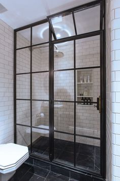 The Frankford Shower Enclosure - Amuneal: Magnetic Shielding & Custom Fabrication Bathroom Design Inspiration, Bad Inspiration, Modern Bathroom Design, Bathroom Interior Design, Interior Doors, Industrial Shower Doors, Bathroom Shower Panels, Master Shower, Master Bathroom