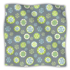 "Julie Hamilton ""Snowflake Slate"" Winter Fleece Throw Blanket $59 kessinhouse.com"