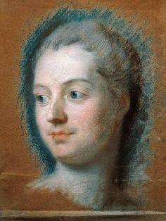 Maurice Quentin de la Tour, Madame de Pompadour, Saint-Quentin, musée Antoine Lécuyer. Disegno a pastello, 1752.