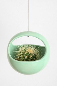 Hanging Nest Planter and Hanging Egg Planter are ceramic planters that you can hang from the ceiling via a metal cable. Featuring bright colors and smooth, oval shapes, these surely cheer up any indoor space. Available from Urban Outfitters. Metal Planters, Ceramic Planters, Hanging Planters, Indoor Garden, Indoor Plants, Diy Plante, Cacti And Succulents, Houseplants, Bonsai