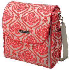 Petunia Pickle Bottom Diaper Bag Boxy Backpack Chenille Almond Raspberry @LaylaGrayce -LOVE