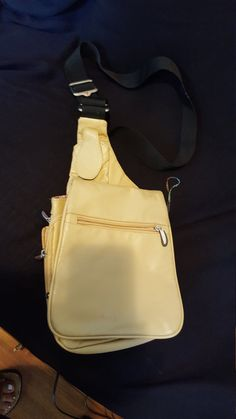 Shell Leather Hands Free Travel Bag Vintage by RareEarthProducts