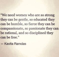 We all need these kind of women and we are becoming these women. :)
